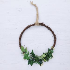 evergreen wreath janmary