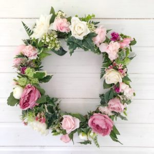 large full summer wreath