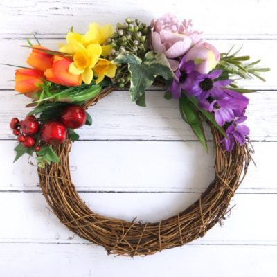 Rainbow Wreath