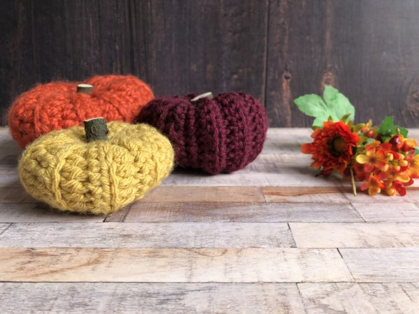 crocheted pumpkin