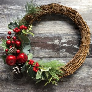 charming christmas winter wishes wreath