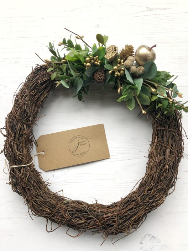 winter gold berry wreath janmary