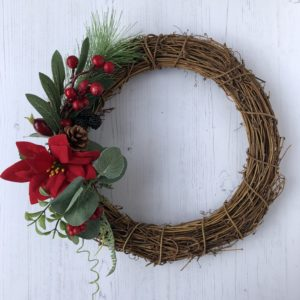 christmas poinsettia wreath janmary