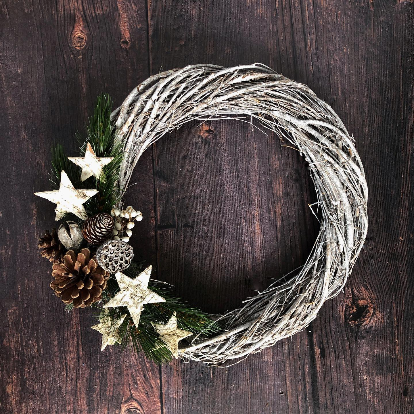 """Created this star wreath for the front door """"When it rains look for rainbows,When it's dark look for stars """""""