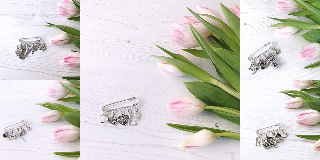 janmary vintage style charm brooches