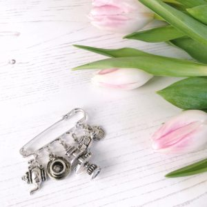 janmary vintage style afternoon tea charm brooch