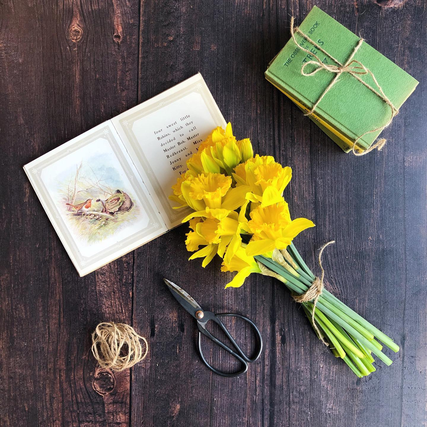 A few cheery daffodils and some vintage finds ..... distractions from the extension of our lockdown restrictions. How's everybody doing?