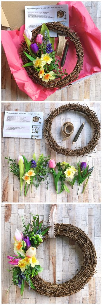 janmary make your own spring wreath kit